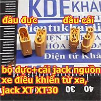 Bộ đực + cái jack nguồn PIN xe điều khiển từ xa, jack XT XT30 hàng chất lượng cao kde4545