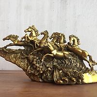 Tượng Ngựa Mã Đáo Thành Công (Bát Mã) bằng đồng