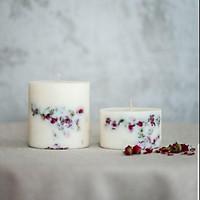 Combo 2 nến thơm hương tinh dầu hoa hồng, trang trí nụ hồng