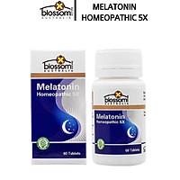 Viên Uống Ngủ Ngon Blossom Melatonin Homeopathic 5X hủ 60V (Mất ngủ, stress,đau đầu)- SP Nhập Khẩu Chính Ngạch Từ Úc