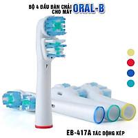 Bộ 4 đầu kép bàn chải đánh răng điện đánh bật cao răng thay thế cho máy Braun Oral B - Xuất xứ Đức