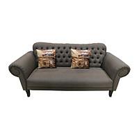Sofa Vải 3 Chỗ Juno Dunhill 212 x 92 x 94 cm (Xám đậm)