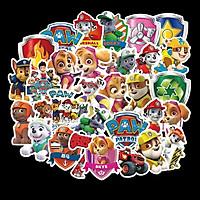 Sticker 50 miếng hình dán Chó cứu hộ - hàng nhập khẩu
