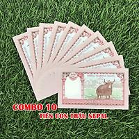 Combo 10 tờ lưu niệm hình con Trâu của Nepal, dùng để sưu tầm, lưu niệm, làm tiền lì xì độc lạ, may mắn, ý nghĩa - TMT Collection - SP005070