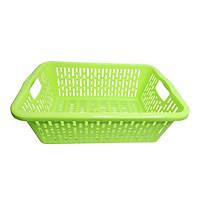Rổ nhựa chữ nhật có quai 52 x 37 x 18 cm Chấn Thuận Thành đựng đồ, đựng thực phẩm, rau củ, đa năng tiện dụng hàng Việt Nam chất lượng cao (RCN53520-Q) nhiều màu