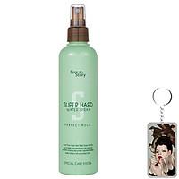 Keo xịt dưỡng và tạo kiểu tóc siêu cứng Confume Super Hard Water Spray 252ml tặng móc khóa
