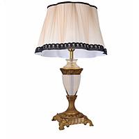 Đèn ngủ để bàn trang trí phòng ngủ, phòng khách kiểu dáng tân cổ điển chao vải DB 3196