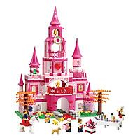 Đồ chơi mô hình lắp ráp cho bé gái - Lâu Đài Công Chúa Oxford HS33920 Hàn Quốc gồm 844 mảnh ghép nhựa ABS cao cấp (8tuổi+)