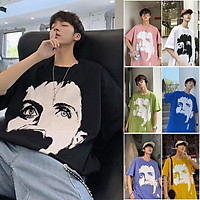 7 Color【M-3XL】 Summer New Style Fashion Personality Printed Graphic Short Sleeve T-shirt Men Breathable Unisex Half Sleeve T-shirt Oversize Student Short T-shirt Couple Wear