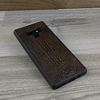Ốp Lưng dành cho Samsung Galaxy Note 9 Da Cá Sấu Có Gù Màu Nâu Đất