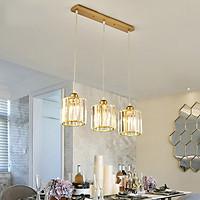 Đèn thả MINA pha lê trang trí hiện đại - kèm bóng LED và đế ốp trần