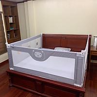 Thanh chặn giường, chắn giường cao cấp Umoo lắp đặt gọn nhẹ, không khoan đục, vải lưới giúp bố mẹ quan sát hoạt độn, đảm bảo an toàn cho bé (1 thanh)