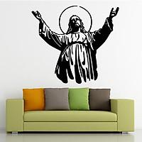 Decal Dán Tường Sticker Chúa Jesus Phòng Khách Trang Trí Phòng Ngủ