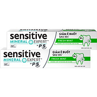 Combo 2 Kem Đánh Răng Sensitive Expert by P/S Fresh Mint Bạc Hà Thơm Mát 100g