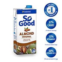 Sữa hạt hạnh nhân So Good hộp 1L, làm từ hạnh nhân Úc, calo thấp, ít ngọt, sản xuất tại Úc