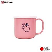 Cốc nhựa nắp mềm dành cho bé Nakaya 200ml P/B (Xanh/ Hồng/ Trắng) hàng Made in Japan