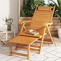 Ghế xếp gấp gọn cao cấp chất liệu gỗ tre kiêm giường ngủ - Hàng chính hãng