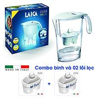 Combo Bình lọc nước LAICA J11A Trắng và 02 Lõi lọc nước (MADE IN ITALY)
