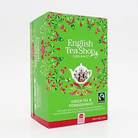 TRÀ ORGANIC GREEN TEA POMEGRANATE HIỆU ENGLISH TEA SHOP