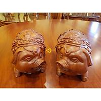 Tượng chú heo ủn ỉn ( phát, tài ) gỗ hương-LT1512