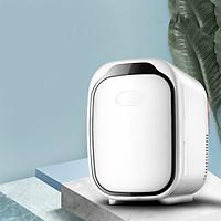 Tủ lạnh mini một cửa 6L để để bàn, dùng tại, tủ lạnh ô tô, đựng và làm lạnh đồ uống hoặc mặt nạ, mĩ phẩm