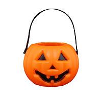 Halloween Pumpkin Lights LED Lights Handheld Pumpkin Lantern Battery Powered for Children Candy Holder Halloween Props