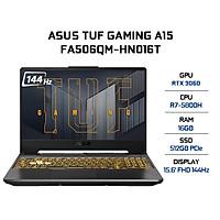 Laptop Asus TUF Gaming A15 FA506QM-HN016T (AMD R7-5800H/ 16GB (8GBx2) DDR4/ 512GB SSD/ RTX 3060 6GB/ 15.6 FHD IPS, 144Hz/ Win10) - Hàng Chính Hãng