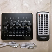 Sound card thu âm live stream  V10 Bluetooth phiên bản 2019