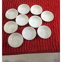Combo 10 chén tiêu sứ trắng