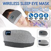 [USB Charging ]Wireless Waterproof bluetooth Sleep Eye Mask Lunch Break Music Eye Mask Portable Travel Eye patch Blindfold Eye Cover