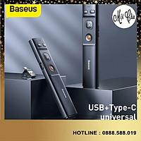 Bút Laser trình chiếu Baseus Orange Dot Wireless Presenter cho Laptop/ Macbook (100m. 2.4Ghz USB/Type C Receiver) -Hàng Chính Hãng