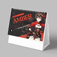 (Lịch 2021-2022) Lịch in AMBER game GENSHIN IMPACT anime ảnh đẹp lịch để bàn