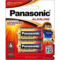Pin kiềm Alkaline cỡ trung Panasonic LR14T/2B vỉ 2 viên (Hàng chính hãng)