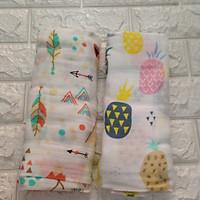 Set 2 khăn tắm sợi tre hình họa tiết ngẫu nhiên - Size 1.2m x 1.2m
