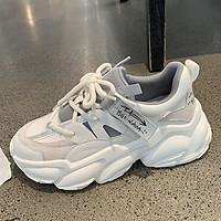 Giày thể thao/Sneakers nữ Đế Sóng Chữ Hàn Nâng Chiều Cao Kèm Tất Gấu (Mã 231)