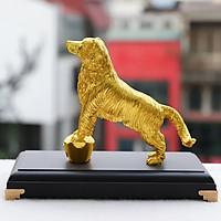 Tượng Khuyển Phú Quý mạ vàng - Linh vật Chó phong thủy