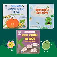 Sách Tương Tác - Bộ Vườn nhà Hạnh phúc(3 cuốn) - Sách Truyện Song Ngữ Tiếng Việt - Anh (Sách Đọc To cho bé từ 0-1-2-3-4-5-6 tuổi)