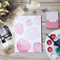 Sổ tay planner bullet journal A5 180 trang trắng trơn bìa họa tiết màu nước hồng PA016