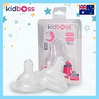 Cặp Núm Ti Silicone Kidboss (Bình PP) - Size + (trên 12 tháng)