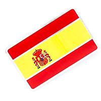 Sticker hình dán metal cờ Tây Ban Nha