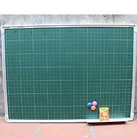 Bảng từ xanh viết phấn kẻ ô li Tiểu học kích thước 800x1200mm
