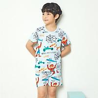 Bộ đồ ngắn tay mặc nhà cotton giấy cho bé trai U3018 - Unifriend Hàn Quốc, Cotton Organic