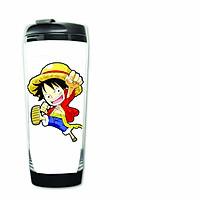 Bình đựng nước in hình Luffy One Piece anime
