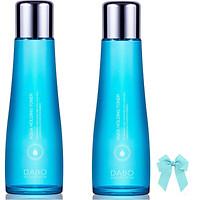 Combo 2 chai  nước hoa hồng Dabo Aqua Holding Toner dưỡng da mềm mịn trắng sáng (150ml) Hàn quốc và kẹp nơ