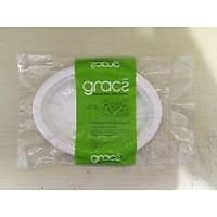 Combo 50 cái Dĩa giấy hột xoài bã mía Thái Lan 8 inch - thương hiệu Gracz