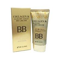 Kem nền trang điểm 3 trong 1 3W Clinic Collagen & Luxury Gold BB Cream tặng 2 mặt nạ Jant Blanc