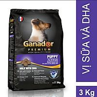 Thức ăn cho chó con Ganador vị Sữa và DHA - Ganador Puppy milk with DHA 3kg