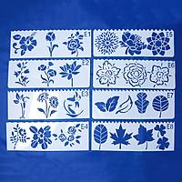 Bộ 8 Thước Vẽ Mỹ Thuật Trang Trí Sáng Tạo - Flowers