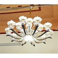 Đèn chùm VENUS pha lê 15 tay hiện đại trang trí nhà cửa - kèm bóng Led chuyên dụng