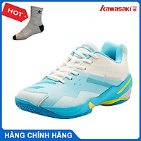 Giày cầu lông kawasaki K366 chính hãng dành cho cả nam và nữ, chống trơn trượt - tặng tất thể thao bendu